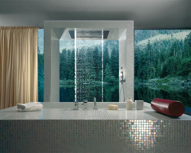 Luxus Badezimmer, Regendusche, Badarmaturen Dornbracht