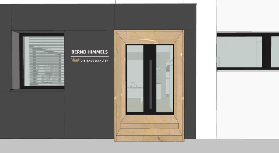 Gestaltung Eingangsbereich, Vorhangfassade Eternit
