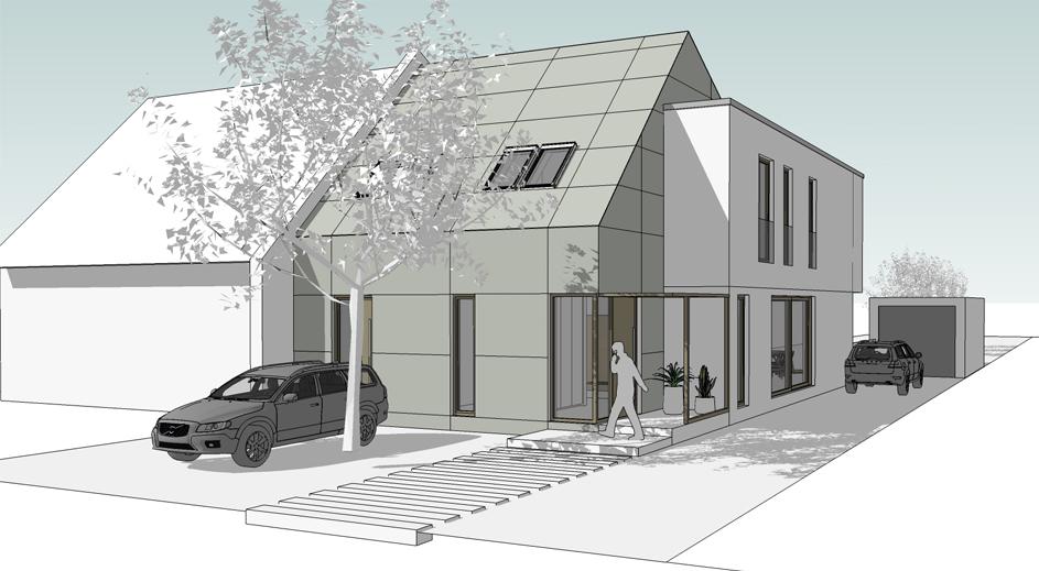 3D-Planung, Doppelhaushälfte